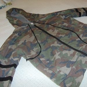 Cropped Camo Spring Hoodie